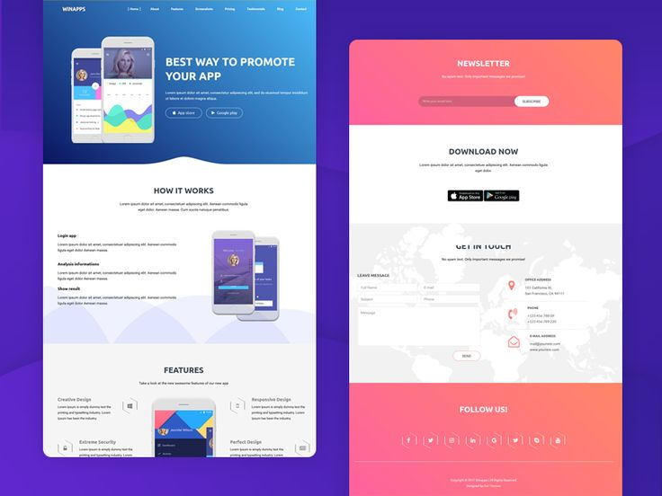 Winapps - App Landing Page HTML Template by Ruhul Amin