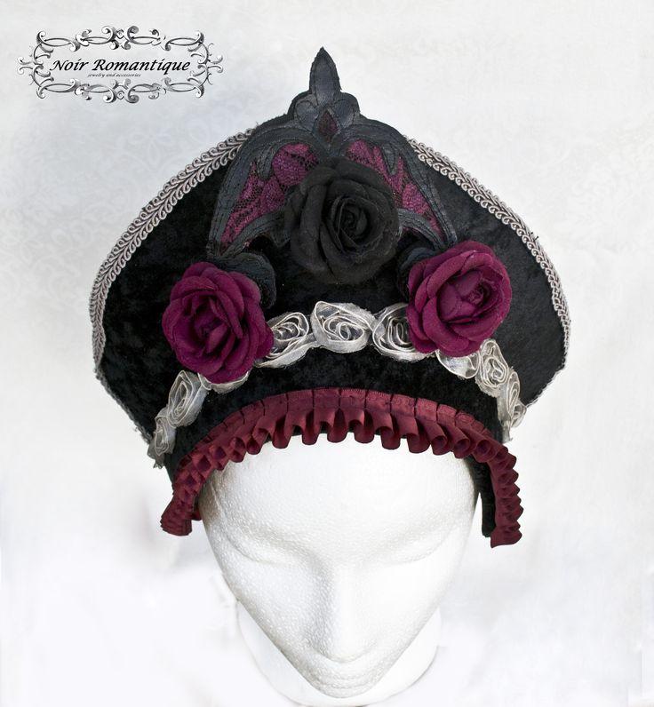 Aristocratic gothic vampire headpiece-Gothic headpiece-vampire headpiece-gothic fashion-headpiece