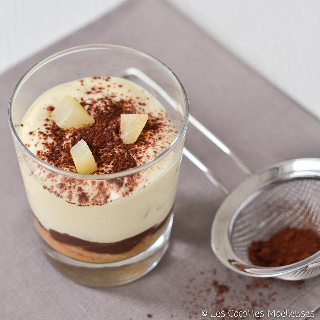 Le tiramisu poire-chocolat | Les Cocottes Moelleuses