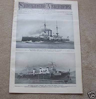 Scientific American 1901 British Russian Battleships | eBay