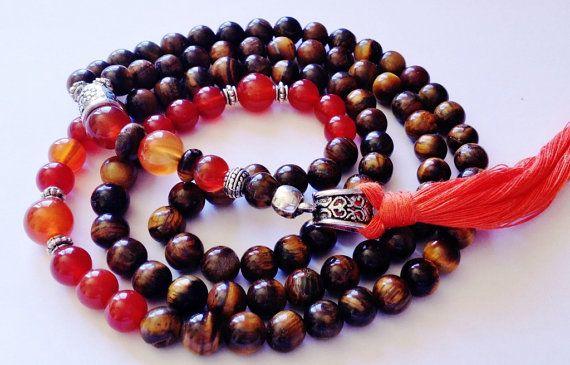 Turkish Islamic Muslim 99 Prayer Beads, Tesbih, Tasbih, Misbaha, Sufi, Worry Beads, Tigers Eye, Carnelian on Etsy, $45.00