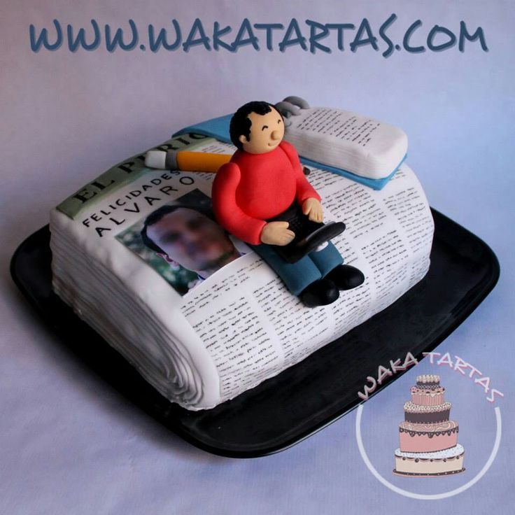 Newspaper Design Cake : 9 best images about Journalist cakes on Pinterest ...