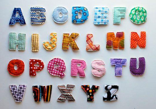 DIY - Plush Alphabet Magnets!