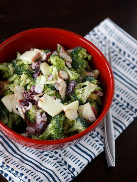 Broccoli Apple Salad by whatmegansmaking #Salad #Broccoli #Apple