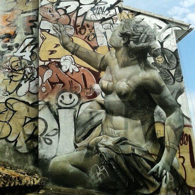 Best Street ArtistPichiAvo Images On Pinterest Architecture - Beautiful giant murals greek gods pichi avo