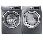 Samsung 4.2 Cu. Ft. Platinum Steam Front-Load Washer and 7.5 Cu. Ft. Steam Gas Dryer (Pedestals Sold Separately) | hhgregg