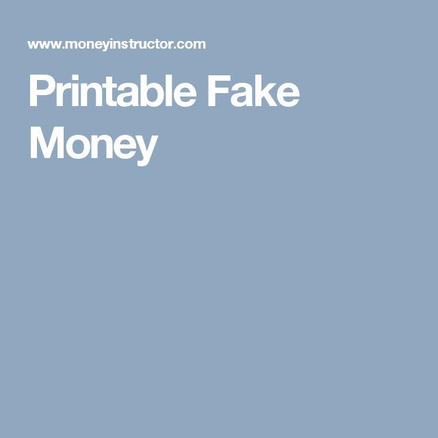 Printable Fake Money