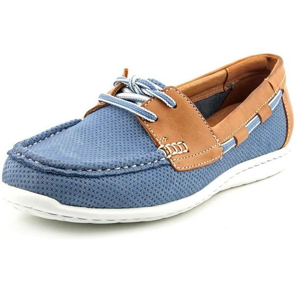 Clarks Artisan Cliffrose Sail Women Boat Shoes (7755 ALL) ❤ liked on Polyvore featuring shoes, blue, clarks shoes, topsider shoes, clarks, traction shoes and blue boat shoes
