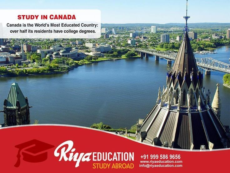 Canada is the World's Most Educated Country: Over half its residents have college degrees. Close to 15,000 degree programs at more than 100 universities… What do you want to Study in Canada? Click and send your inquiry or call +91 9995869656. We have branches across India.