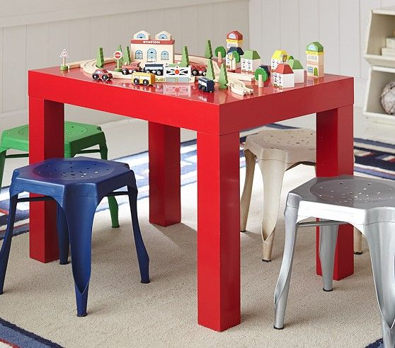 Parsons Small Play Table Pottery Barn Kids Wooden
