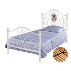 IRON SINGLE BED IN WHITE 98Χ200Χ117,5/(90X192)
