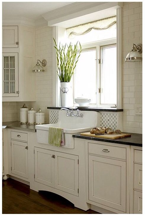 I LOVE this sink and the built out window sill