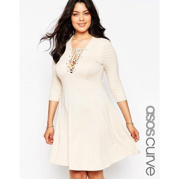 Cream white plus size dress