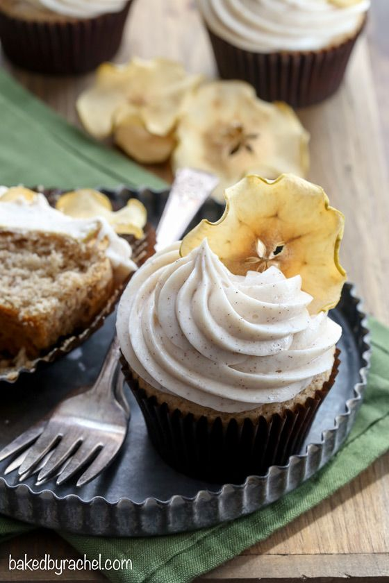 ... apple cupcakes with cinnamon cream cheese frosting from @bakedbyrachel
