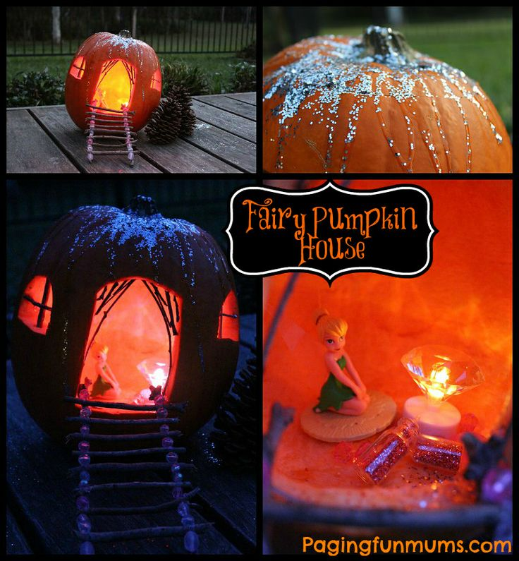 Carved Fairy House Pumpkin for Halloween! So simple and enchantingly CUTE!!