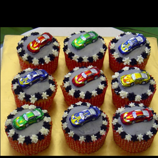 Race car b day cupcakes                                                                                                                                                                                 More