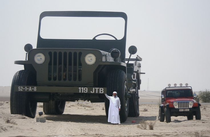 Eccentric oil Sheik - Hamad bin Hamdan Al Nahyan aka The Rainbow Sheikh and his GIANT TRUCK