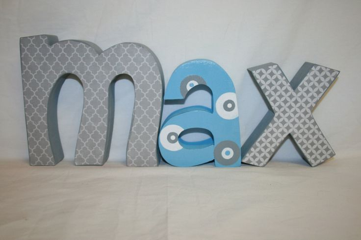 How To Decorate Wooden Letters For Nursery: 25+ Unique Wood Letters Name Ideas On Pinterest