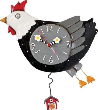 """Настенные часы """"Побег из курятника"""", 29см Enesco P1362"""