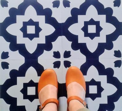 Casablanca Blue Vinyl Flooring: Retro Vinyl Floor tiles for your home