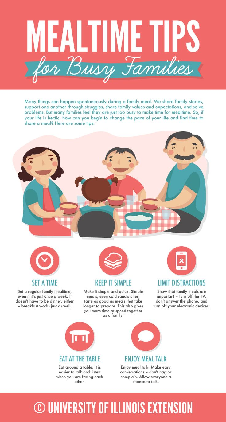 Mealtime Tips for Busy Families - great guide to get some family bonding time in!