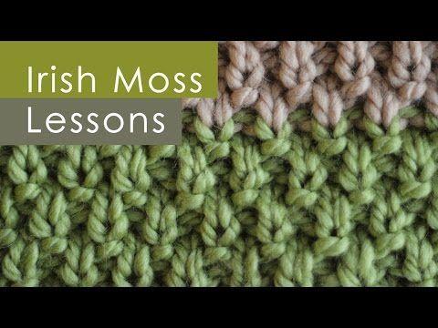 How to Knit the IRISH MOSS Knit Stitch Pattern | Studio Knit