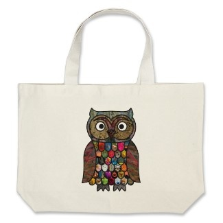 Patchwork Owl Tote Bag