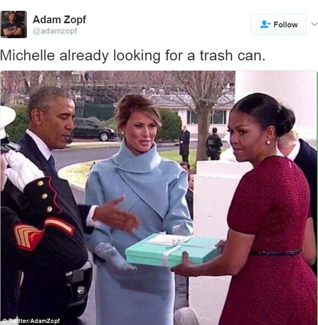 Twitter erupts over Michelle Obama's facial reactions at inauguration