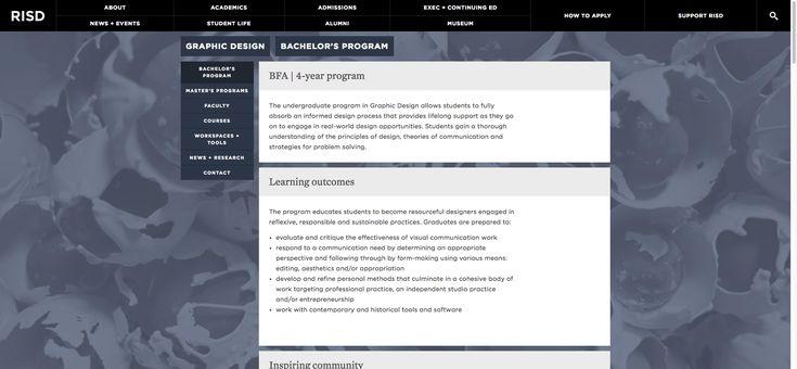 Bachelor's Program | Graphic Design | Academics | RISD