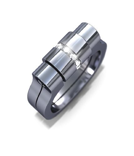 tipit Pure- diamond and steel ring