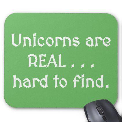Unicorns Are Real Mousepad - cool gift idea unique present special diy