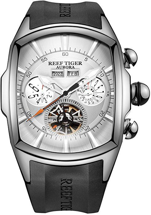 Amazon.com: Reef Tiger Luminous <b>Sport</b> Watch for <b>Men Tourbillon</b> ...