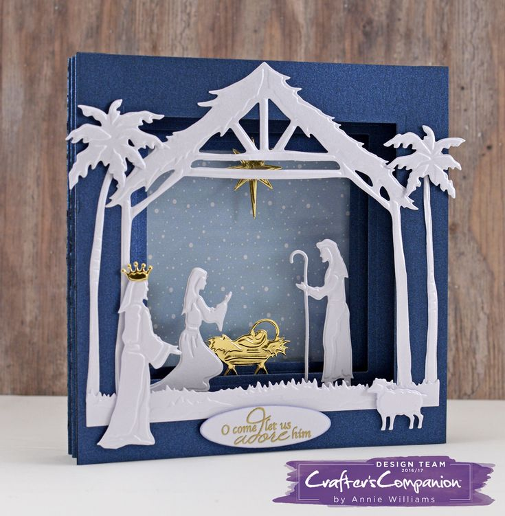 Follow Annie\'s super sweet 3D Nativity card tutorial this festive season to WOW friends and family. Tunnel cards are easy...if you know how to create them!