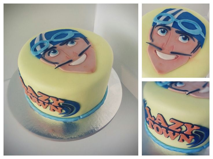 Lazy town cake // Lazy Town Torte // www.suesse-versuchung.ch #lazy town #sportacus