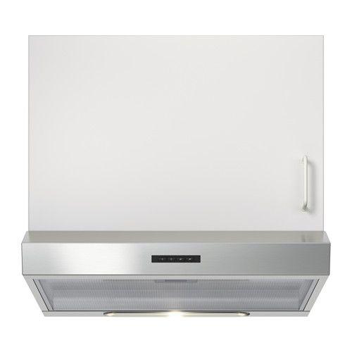 IKEA - LAGAN, Hotte aspirante murale, Vous pouvez facilement retirer et nettoyer le filtre à graisse au lave-vaisselle. 1 filtre à graisse inclus.Installation possible en évacuation extérieure ou en recyclage.Panneau de commandes frontal et facile d'accès.L'ampoule halogène diffuse une lumière confortable pour la cuisson. 1 ampoule halogène incluse.