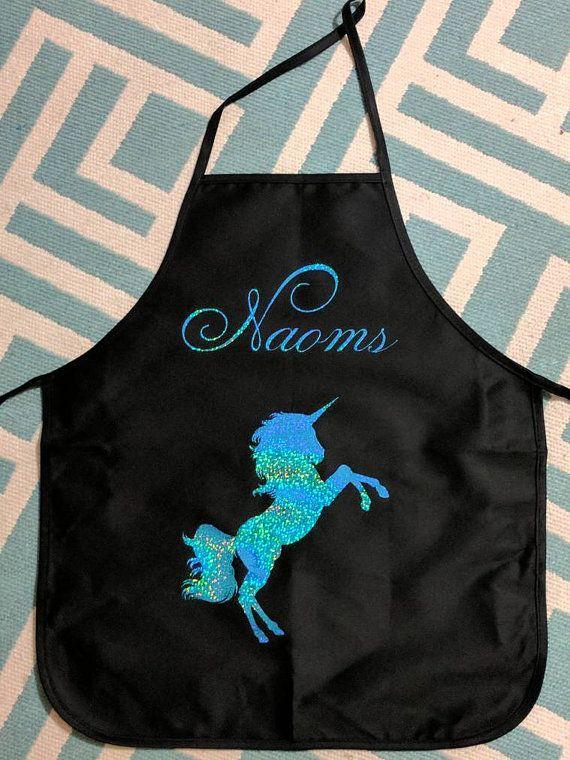 Custom apron, unicorn