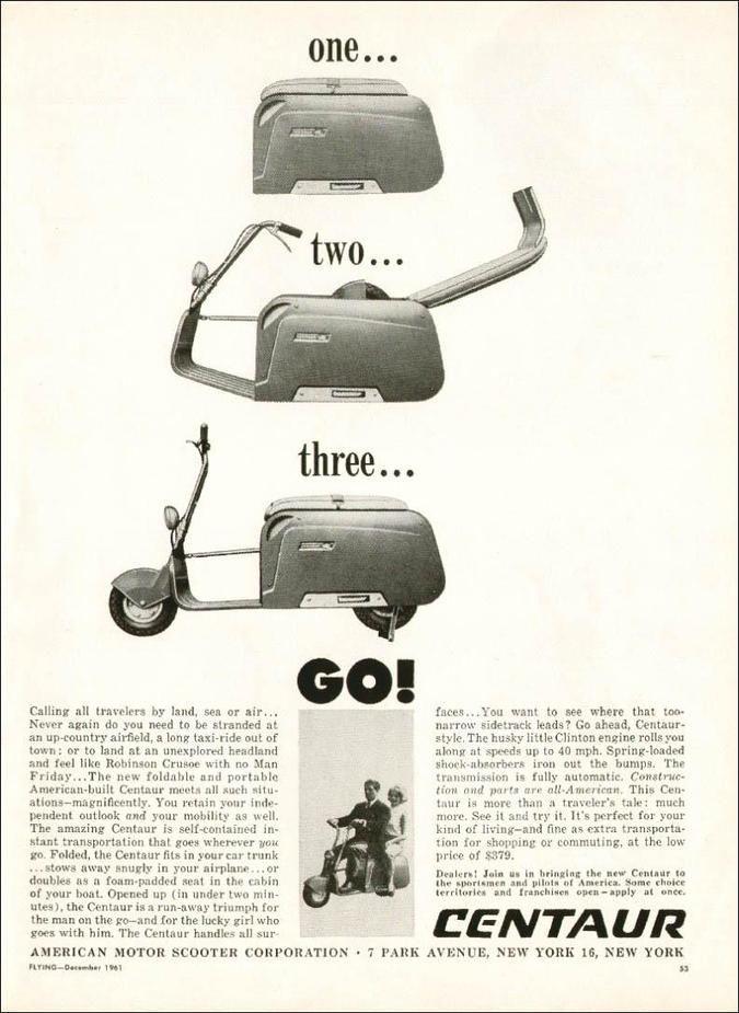 Centaur Foldable Motor Scooter Information