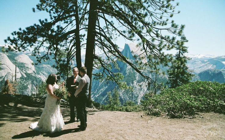 Glacier Point Yosemite Destination Elopement: Jessica + Taylor