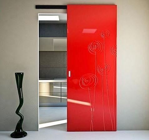 Puerta corredera suspendida soffi version ghost bertolotto - Bertolotto porte spa ...