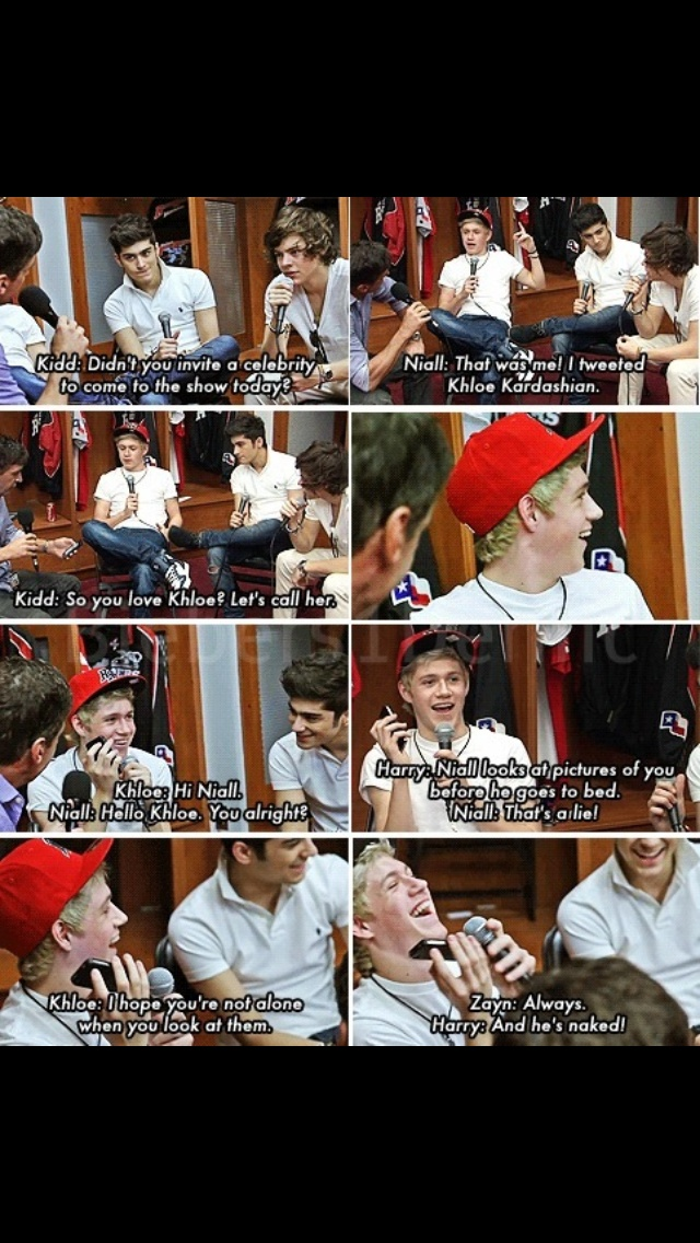 This interview was one of the best! The way Niall said that's a lie was so hot!!!