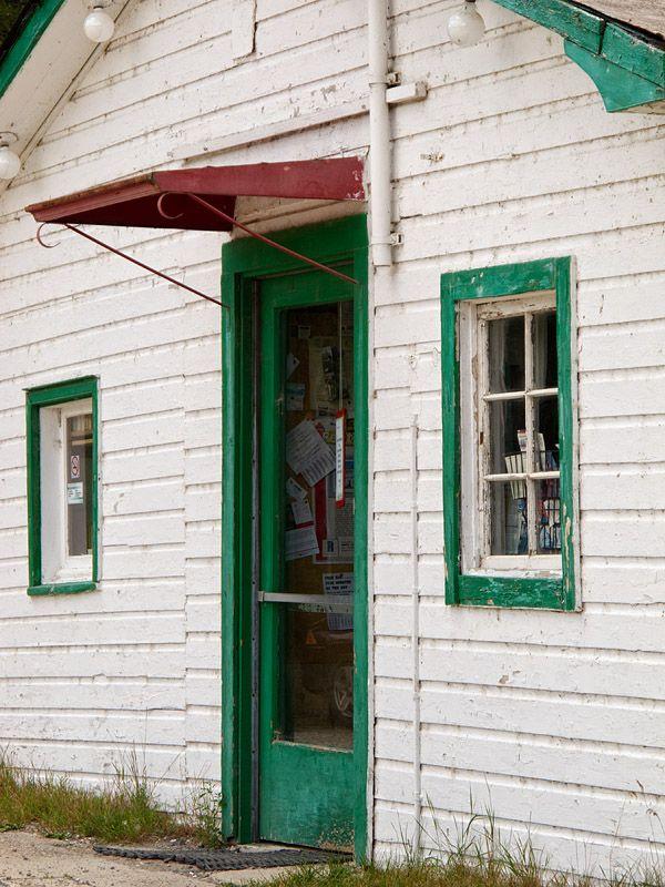 Front door of the Highway Bookshop, Cobalt, Ontario, Canada