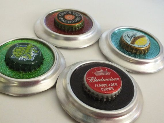 Upcycled Budweiser Beer Ornaments by brandyfisher on Etsy