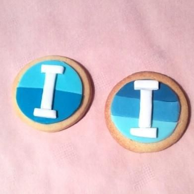 Monogram cookies - Cake by ggr