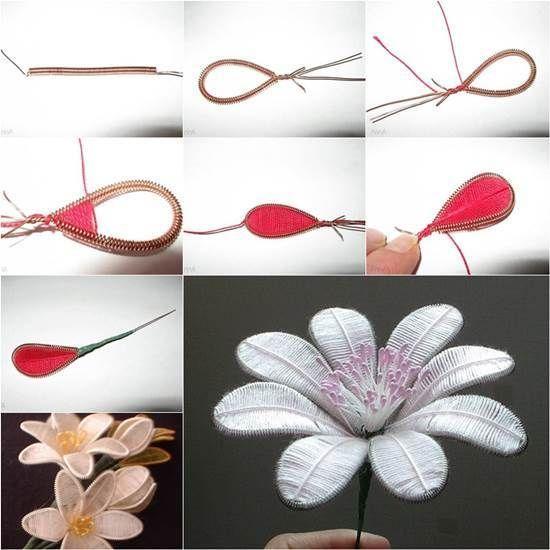 Hogyan DIY Gyönyörű virágok a Wire és Thread