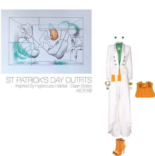48,318$ St-Patrick's Day #MostExpensiveOutfit Inspired by Hypercube Habitat – Daan Botlek ft. @ermannoscervino @Balmain @rosieassoulin @Margiela @LouisVuitton @chanel @lydiacourteille @gemvara @altea