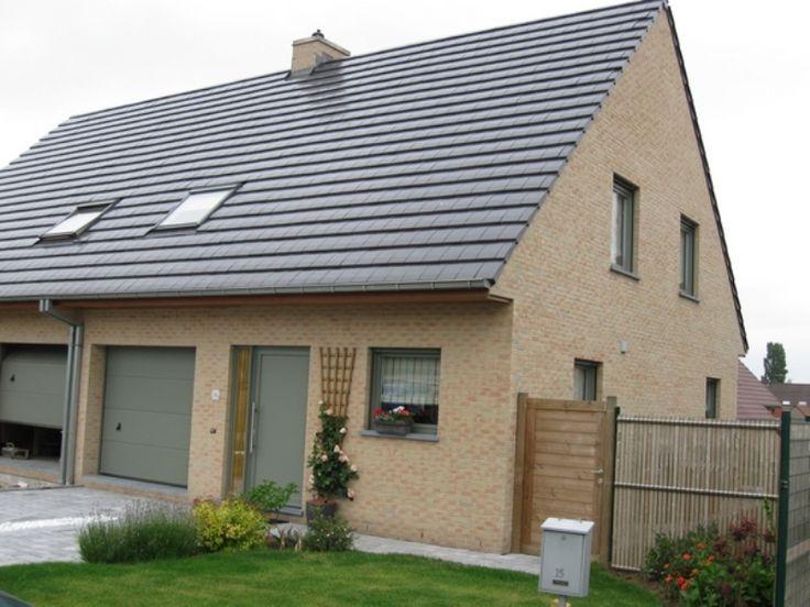 Nieuwbouw Koppelwoning Decoroc Cementgrijs Ral 7033 te Rekkem