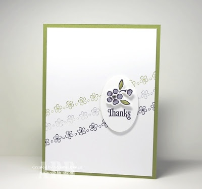 Escape2stamp - Quick card! Make it even faster by just stamping the flower design and coloring it in. (This is one was stamped on a separate piece of card stock, fussy cut and adhered with a Dimensional.)