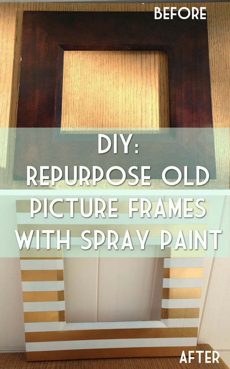 DIY: Repurpose Old PIcture Frames With Spray Paint