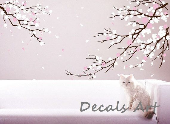 Best Cherry Blossom Decals Images On Pinterest Blossom Trees - Custom vinyl wall decals cherry blossom tree