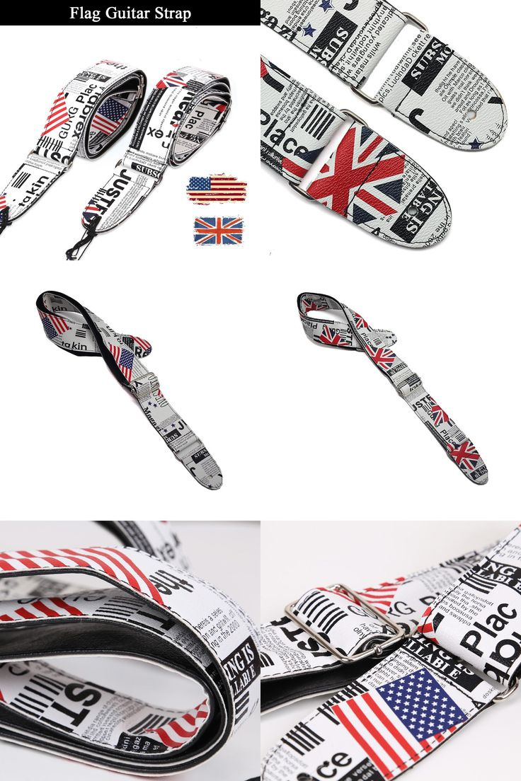 [Visit to Buy] Flag of the United Kingdom United States Durable Bass Electric Acoustic Guitar Strap Belt #Advertisement